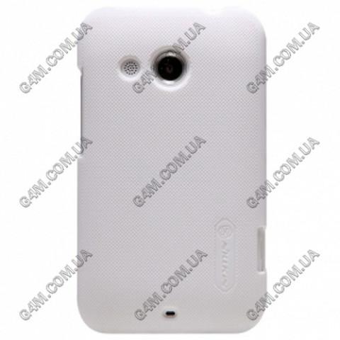 Накладка пластиковая Nilkin для HTC Desire 200 (белая с защитной пленкой в комплекте)