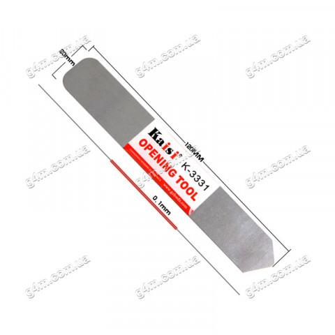 Гибкий металлический инструмент для снятия дисплея или сенсора Kaisi K-3331