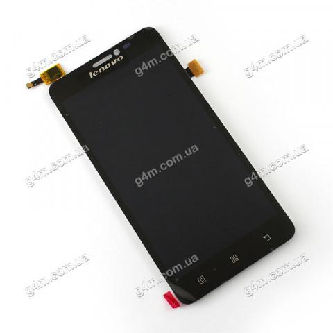 Дисплей Lenovo S850 с тачскрином, черный (Оригинал)