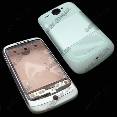 Корпус HTC G8, A3333 wildfire белый с серебристым (High copy)