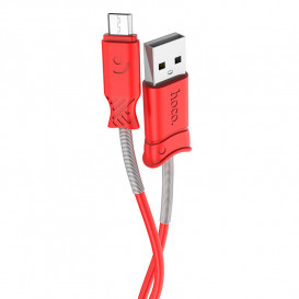 USB дата-кабель Hoco X24 Pisces MicroUSB 1 метр, красный
