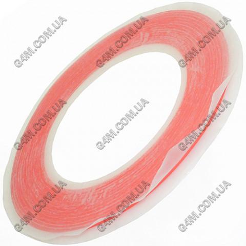 Двусторонний прозрачный, силиконовый скотч ширина 2 мм (30 метров)