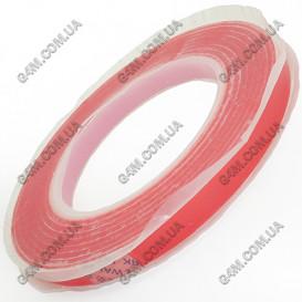 Двусторонний прозрачный, силиконовый скотч ширина 12 мм (30 метров)