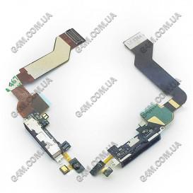 Шлейф Apple iPhone 4S с коннектором зарядки черная