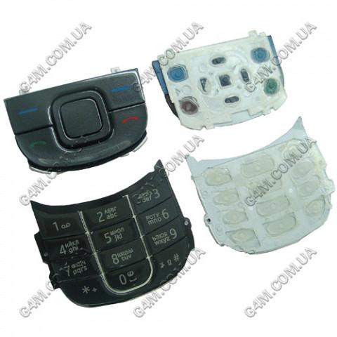 Клавиатура Nokia 3600 slide черная, русская, High Copy