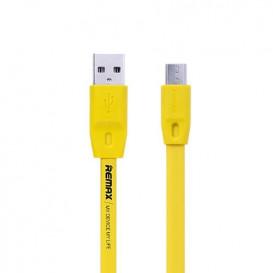 USB дата-кабель Remax Full Speed RC-001m microUSB желтый 2m