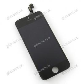 Дисплей Apple iPhone 5S с тачскрином и рамкой, черный