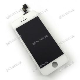 Дисплей Apple iPhone 5S с тачскрином и рамкой, белый