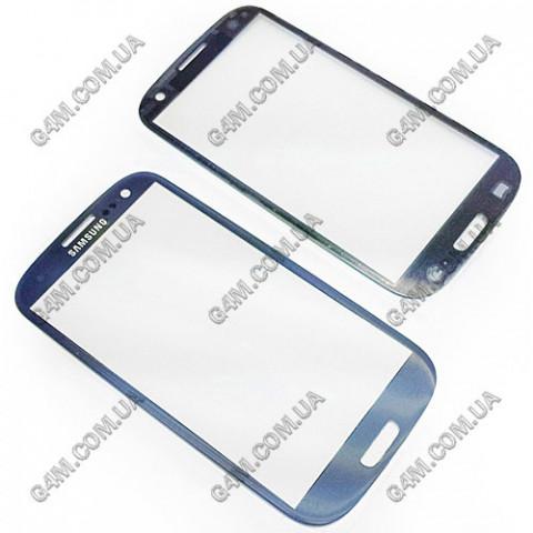 Стекло сенсорного экрана для Samsung i9300 Galaxy S3, I9305 Galaxy S3 темно-синее