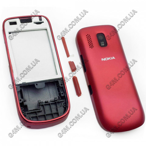 Корпус Nokia Asha 202 красный (High Copy)