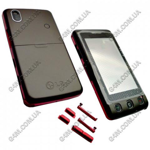 Корпус LG KP500 коричневый с клавиатурой (High Copy)