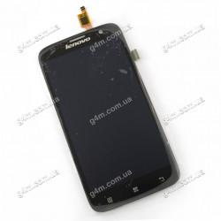 Дисплей Lenovo A859 с тачскрином, черный (Оригинал)
