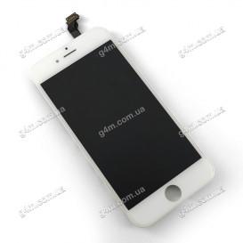 Дисплей Apple iPhone 6 с тачскрином и рамкой, белый