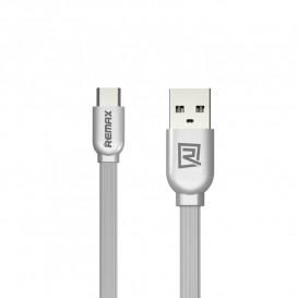 USB дата-кабель Remax RC-047a Type-C серебристый 1m