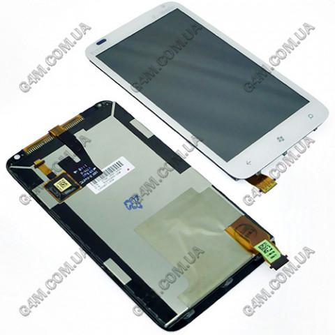 Дисплей HTC C110e Radar белый с тачскрином (Оригинал)