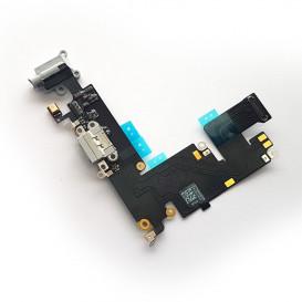 Шлейф Apple iPhone 6 Plus с коннектором зарядки и наушника, белый