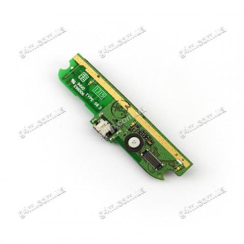 Плата разъема зарядки Lenovo A830 с компонентами