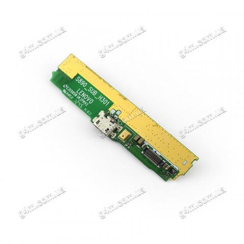 Плата разъема зарядки Lenovo S890 с компонентами