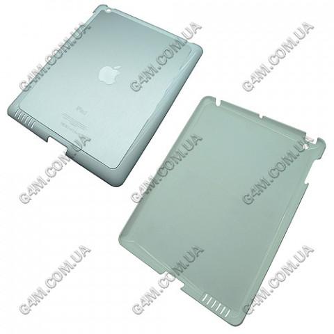 Накладка пластиковая с аллюминиевой вставкой Hard Cover для iPad 2 белая