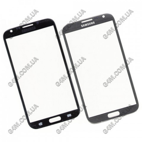 Стекло сенсорного экрана для Samsung N7100 Galaxy Note2 серое