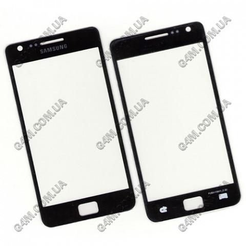 Стекло сенсорного экрана для Samsung i9100 Galaxy SII черное