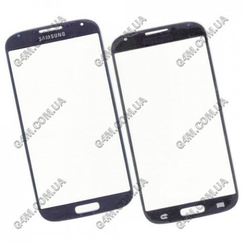 Стекло сенсорного экрана для Samsung i9500, i9505 Galaxy SIV темно-синее