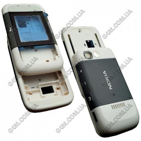 Корпус Nokia 5200 Xpress Music серый с белым (полный комплект) High Copy