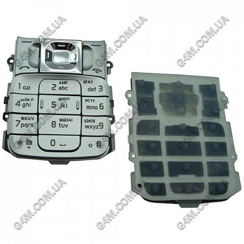 Клавиатура Nokia 2310 серебристая, русская (High Copy)