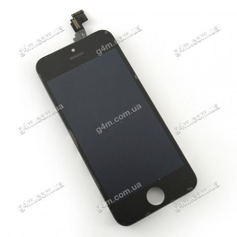 Дисплей Apple iPhone 5C с тачскрином и рамкой, черный (High copy)