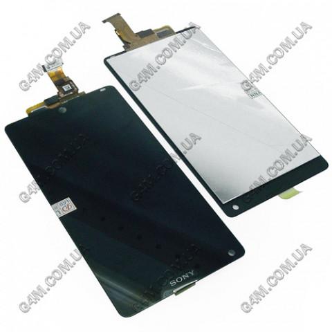 Дисплей Sony C6502 L35h Xperia ZL, C6503 L35i Xperia ZL с тачскрином черный (Оригинал)