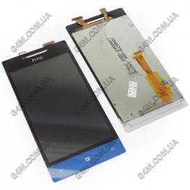 Дисплей HTC 8S, A620e Windows Phone с тачскрином, синий