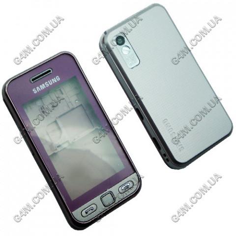 Корпус Samsung S5230 розовый с гнездом для стилуса (High Copy)