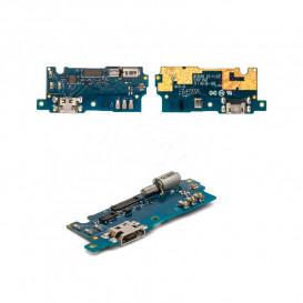 Плата разъема зарядки Meizu M3s с компонентами