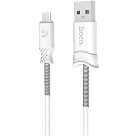 USB дата-кабель Hoco X24 Pisces MicroUSB 1 метр, белый
