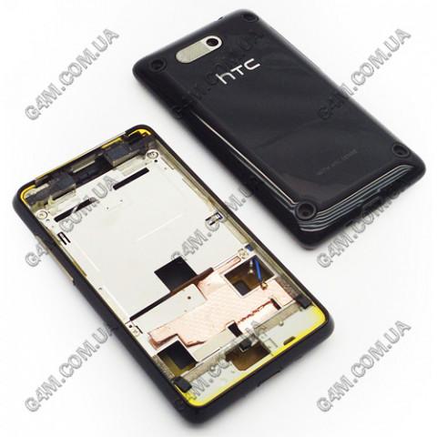Корпус HTC G9 A6380 Gratia черный с средней частью (Оригинал)