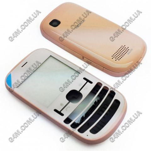 Корпус Nokia Asha 200, Asha 201 розовый (High Copy)