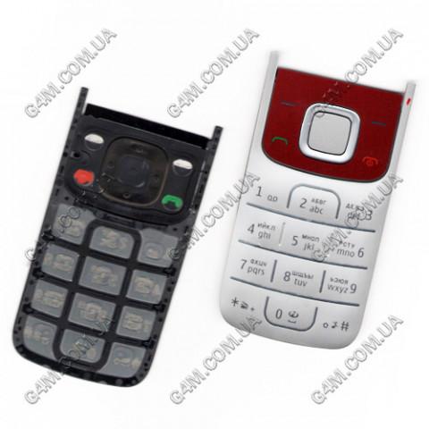 Клавиатура Nokia 2720 fold красная, кириллица, High Copy