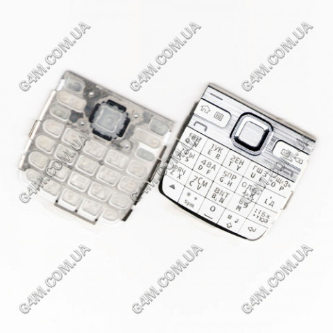 Клавиатура Nokia E55 белая, русская, High Copy