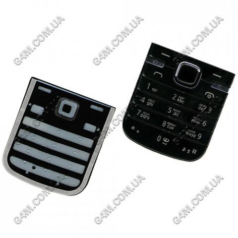 Клавиатура Nokia 6730 classic чёрная, русская, High Copy
