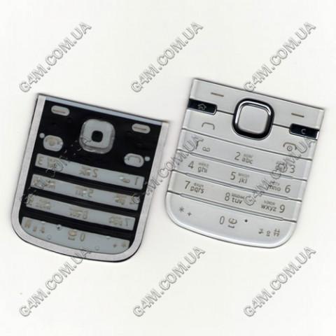 Клавиатура Nokia 6730 classic белая, русская (High Copy)