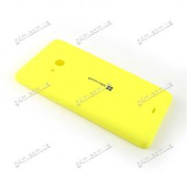 Задняя крышка для Nokia Lumia 535 Dual Sim, RM-1090 (Microsoft) желтая