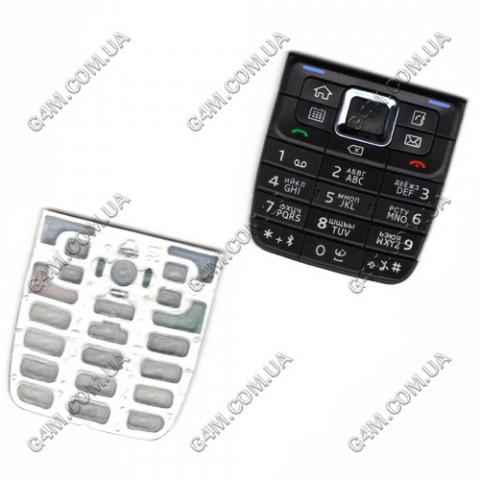 Клавиатура Nokia E51 черная, русская (High Copy)