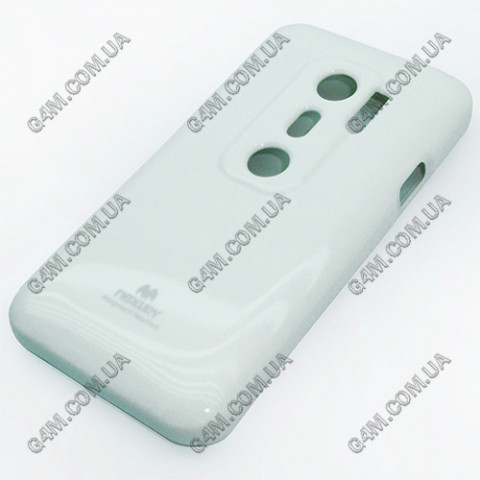 Накладка пластиковая MERCURY для HTC EVO 3D белая