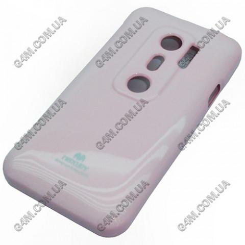Накладка пластиковая MERCURY для HTC EVO 3D розовая