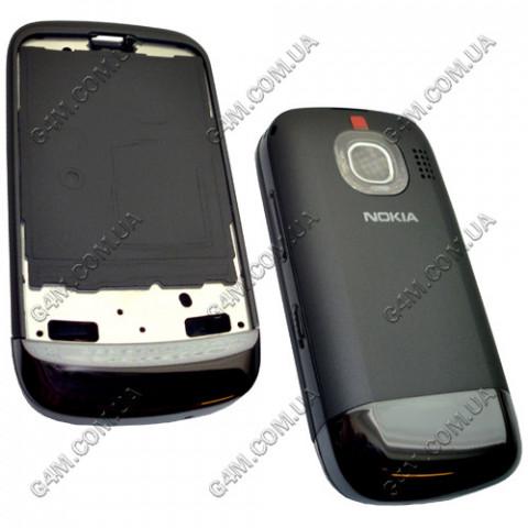 Корпус Nokia C2-02, C2-03 темно-серый, High Copy