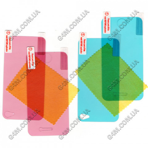 Защитная пленка Diamond(цветная) для Apple iPhone 4G на дисплей и на заднюю крышку
