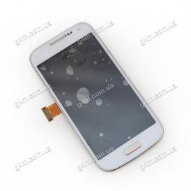 Дисплей Samsung i9190 Galaxy S4 Mini, i9195 Galaxy S4 Mini, i9192 Galaxy S4 Mini Duos, i9197 Galaxy S4 Mini белый с тачскрином и рамкой (Оригинал)