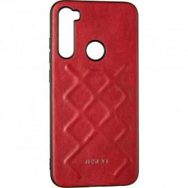 Накладка Jesco Leather для iPhone 7, iPhone 8 (красного цвета)