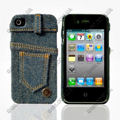 Накладка джинсовая LIFESTYLE для iPhone 4G/4S