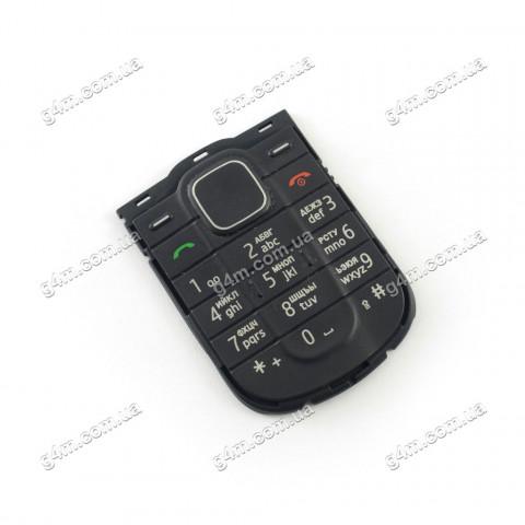 Клавиатура Nokia 1202 черная, кириллица, Оригинал